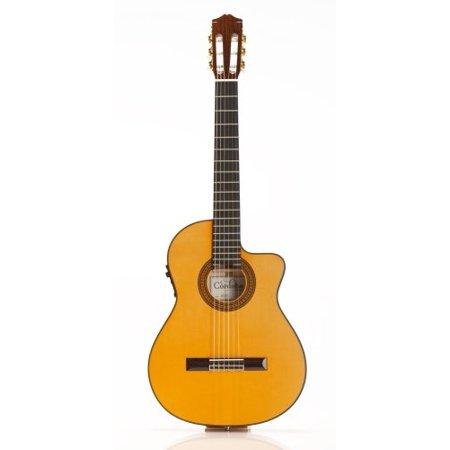 cordoba 55fce acoustic-electric thinbody flamenco guitar (honey amber)