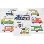 3 Piece Food Truck Floursack Kitchen Towel Set 2228 022