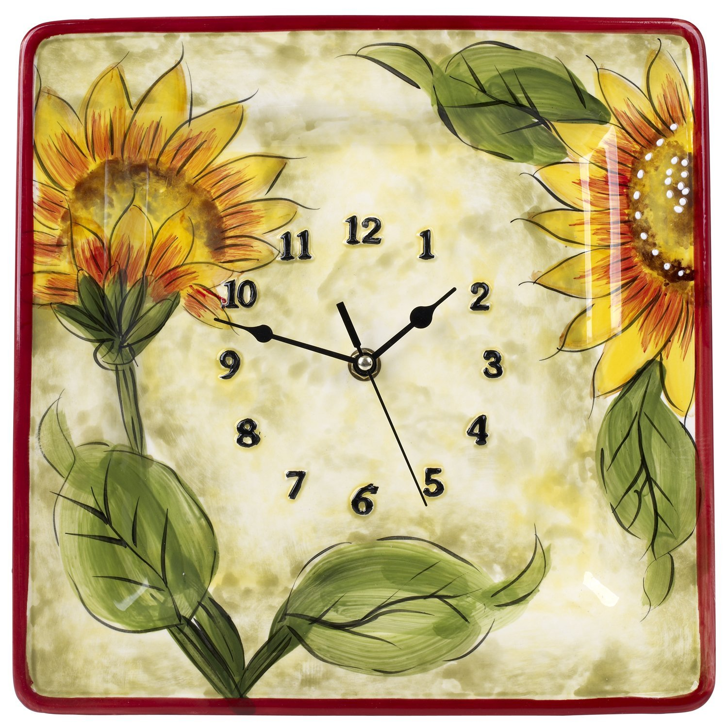 Original Cucina Italiana Ceramic Square Wall Clock 12 x 12 Inches ...