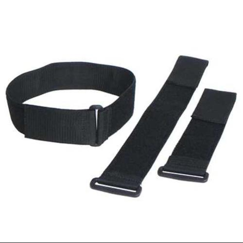 "VELCRO BRAND 2"" W x 12"" L Hook-and-Loop Black Cinch Strap, 10 pk., 2X12KWVS"