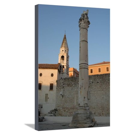 Croatia - Dalmatia - Zadar, Roman Column Stretched Canvas Print Wall Art - Plastic Roman Columns For Sale