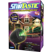 StarTastic ACTION Holiday Laser Light Show, 4 Modes with Static and Twinkling Stars Motion Features