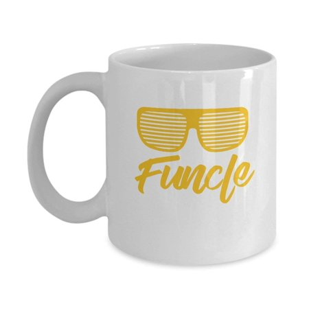 Cool and Funny Mens Funcle Sunglasses Coffee & Tea Gift Mug, Awesome Birthday Gifts For Your Favorite Uncle ()
