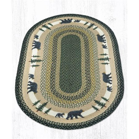 Polar Bear Patch - Capitol Importing 88-2745-116BT 27 x 45 in. Jute Oval Bear Timbers Patch