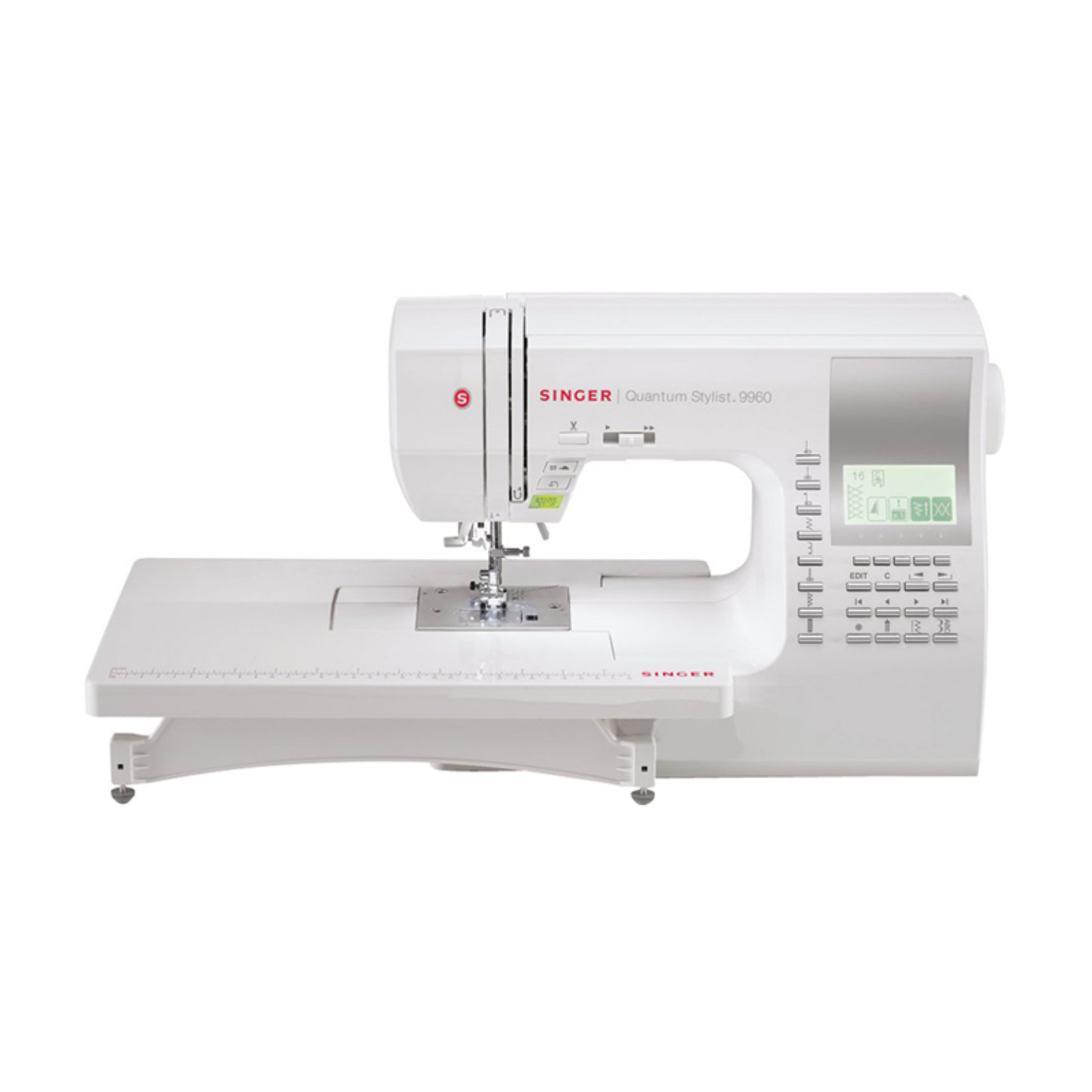 Singer 9960 Quantum Stylist 600-Stitch Computerized Sewing Machine with Extension Table, Bonus Accessories
