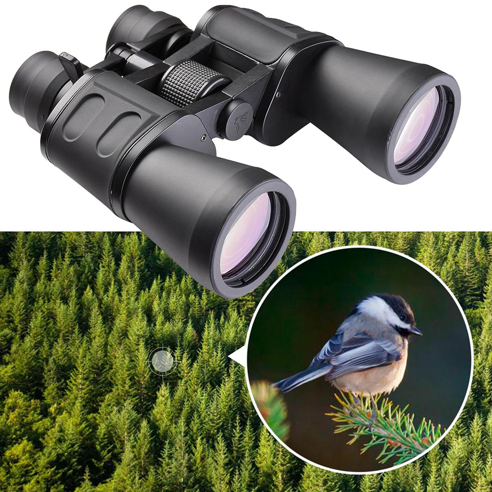 AW 50mm Tube 10x-180x100 Zoom Binoculars Compact Telescope Waterproof Day Vision for Bird Watching Sightseeing w/ Bag