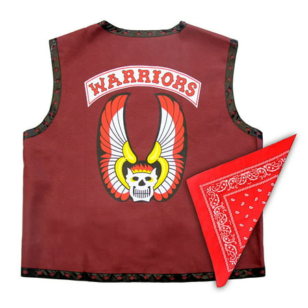 The Warriors Gang Costume Leather Vest Jacket and Bandana