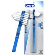 Oral-B Denture Dual Head Tooth Brush - 1 Ea, 2 Pack