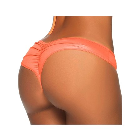 e300ecc7205 SAYFUT - SAYFUT Sexy Women's Itsy Back Ruched Cheeky Thong Bikini Swim  Bottoms Swimwear Swimsuit Beachwear - Walmart.com
