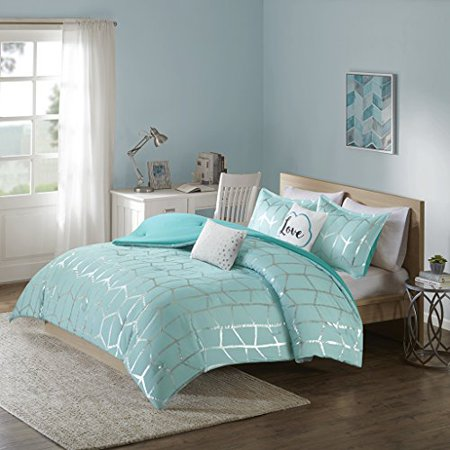 Comforter Set-Color:Aqua,Size:Twin/Twin XL