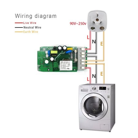 TH16 DIY 16A 3500W Smart Home WIFI Home swich Wireless Temperature Humidity Thermostat Module APP Remote Control Switch Socket - image 9 of 10