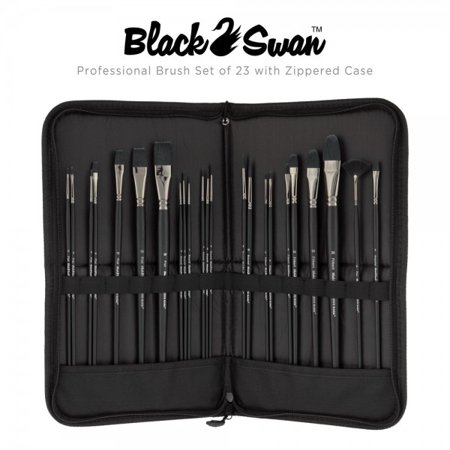 Creative Mark Black Swan Paint Brushes Synthetic Red Sable Acrylics Oil Glazing