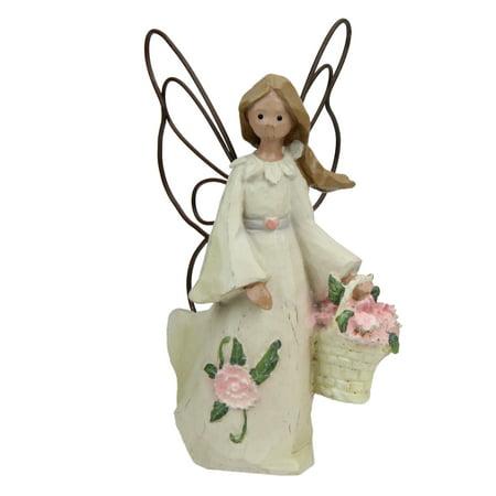Set of 4 January Monthly Angel Carnation Birthday Figurines #49301