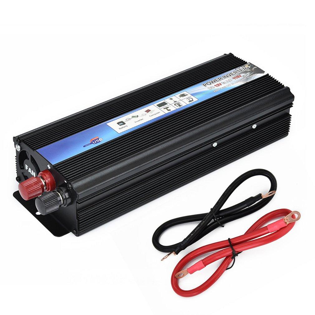 12V DC To AC 110V/220V Auto Inverter 2000W Car Power Pure