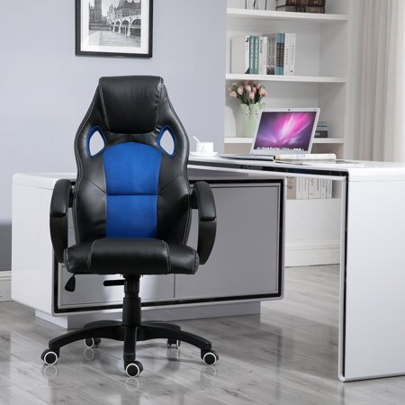 Samincom Office Desk Chair with mesh back, Swivel Gaming Chair, W49 x D49 x H109-120CM, (Back Office Desk Chair)