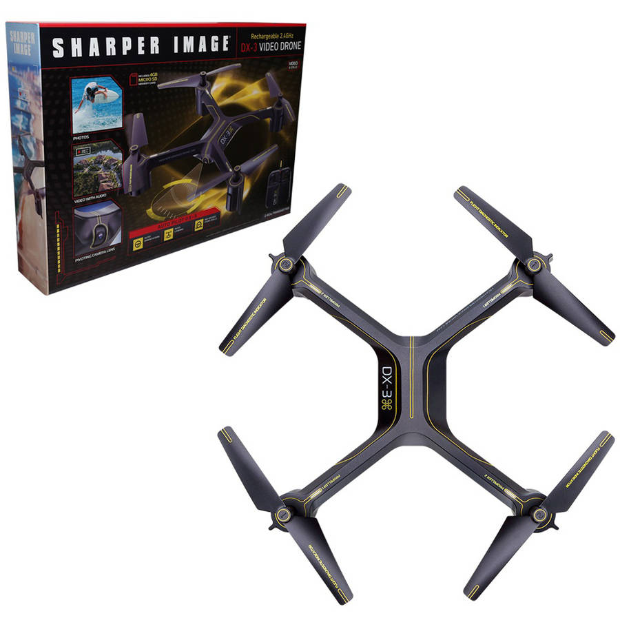 "Sharper Image DX-3 14.4"" Large Drone with Camera"