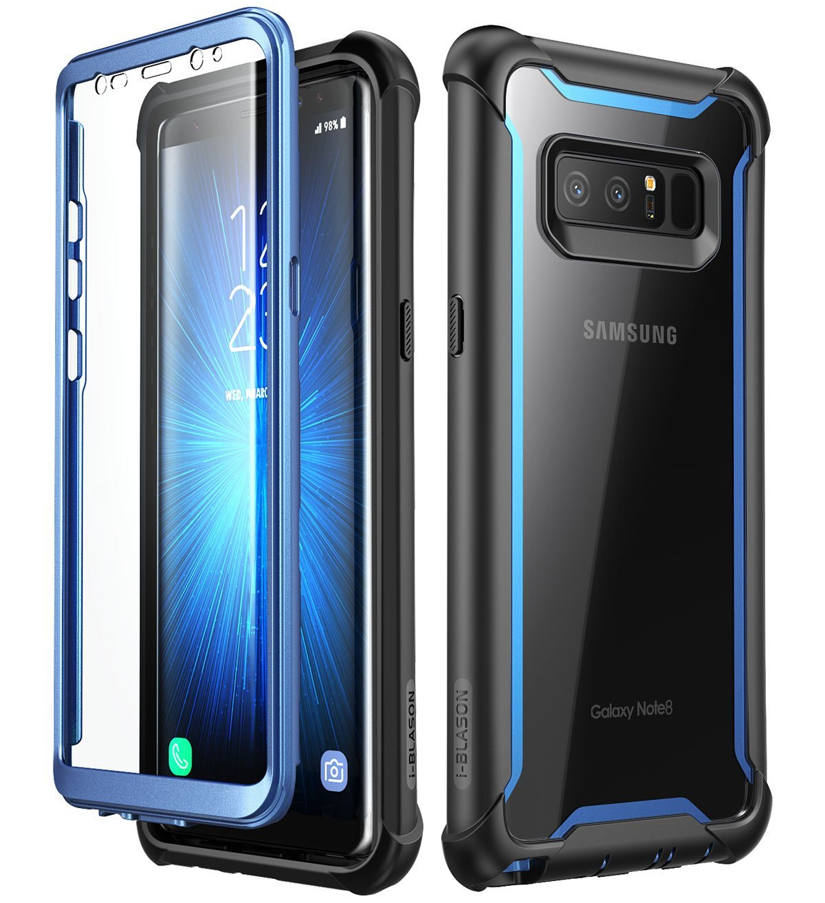new product d791d a9f67 Samsung Galaxy Note 8 case,i-Blason [Ares Series] Full-body Rugged Clear  Bumper Case with Built-in Screen Protector for Samsung Galaxy Note 8 2017  ...