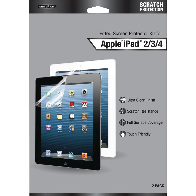WriteRight BOGL9263201 Screen Protectors for iPad Gen 2–4, 2 pk