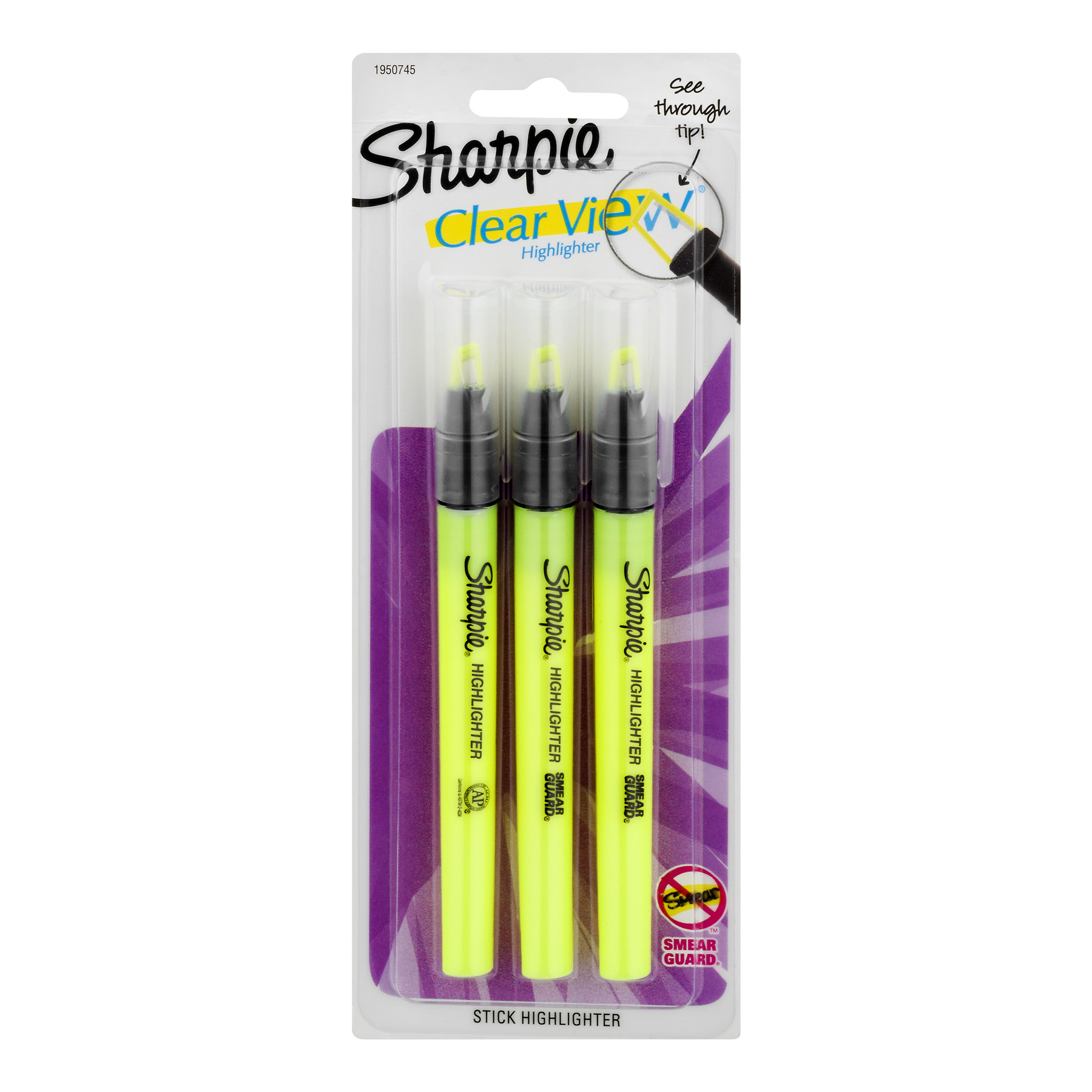 Sharpie Clear View Highlighter - 3 CT1.0 CT