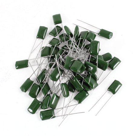 Mfd 100v Radial - Unique Bargains 50 x Radial Leads Polyester Film Cap Capacitors Green 2A333J 100V 0.033uF 5%