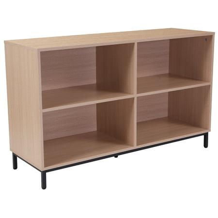 Flash Furniture Dudley Oak Wood Grain Finish Bookshelf Oak 3 Grain