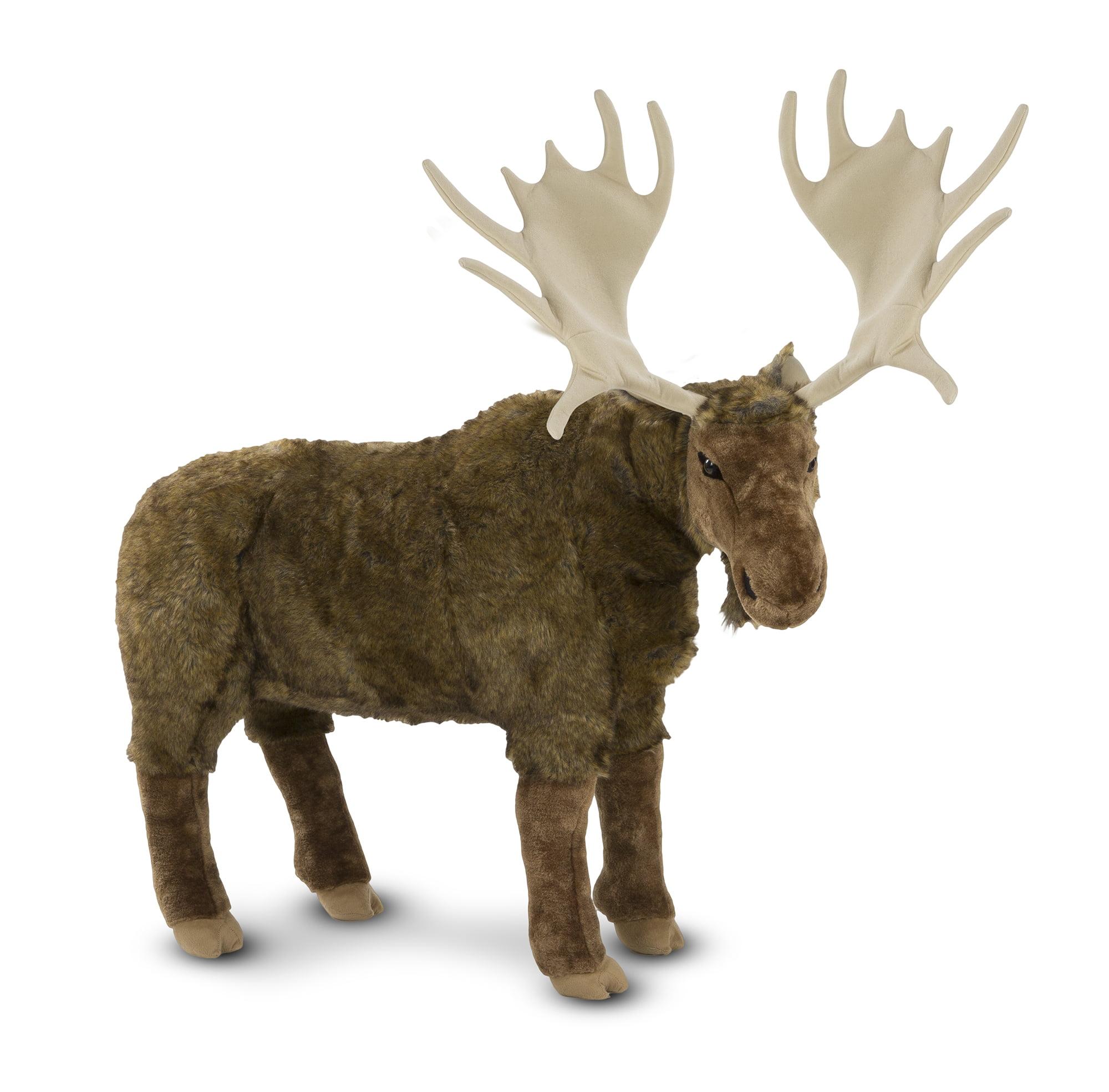 Melissa & Doug Standing Lifelike Plush Giant Moose Stuffed Animal (38 x 41.5 x 13 in)