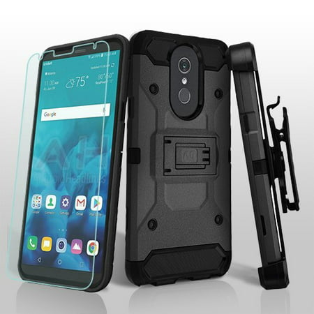- LG Stylo 4 Phone Case Combo TUFF Hybrid Impact Armor Rugged TPU Dual Layer Hard Protective Cover Belt Clip Holster with Screen Protector Black Phone Case for LG Stylo 4