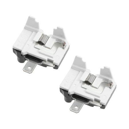 2 Pcs Refrigerator Thermal Overload Protector 1/3HP 250W Freezer Compressor Part - image 2 of 2