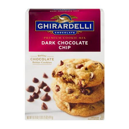 (3 Pack) Ghirardelli Premium Cookie Mix, Dark Chocolate Chip, 16.75oz Box