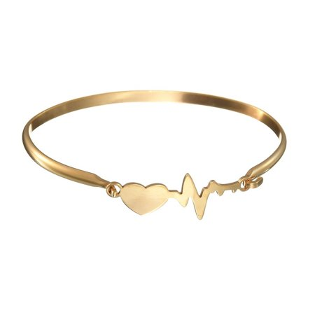 Copper Silver Plating (Love Your Heartbeat Bracelet In Gold And Silver Plating)
