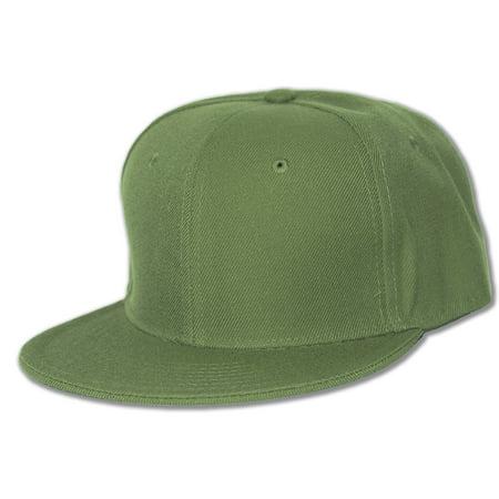 Flat Bill Baseball - Blank Flat Bill Baseball Hat
