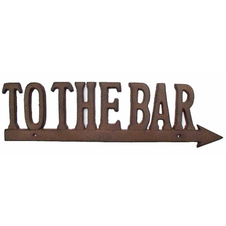 Antique Reproduction To The Bar Cast Iron Arrow Sign