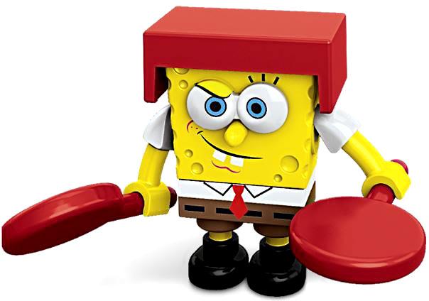 Mega Bloks Spongebob Squarepants Karatay SpongeBob Minifigure by