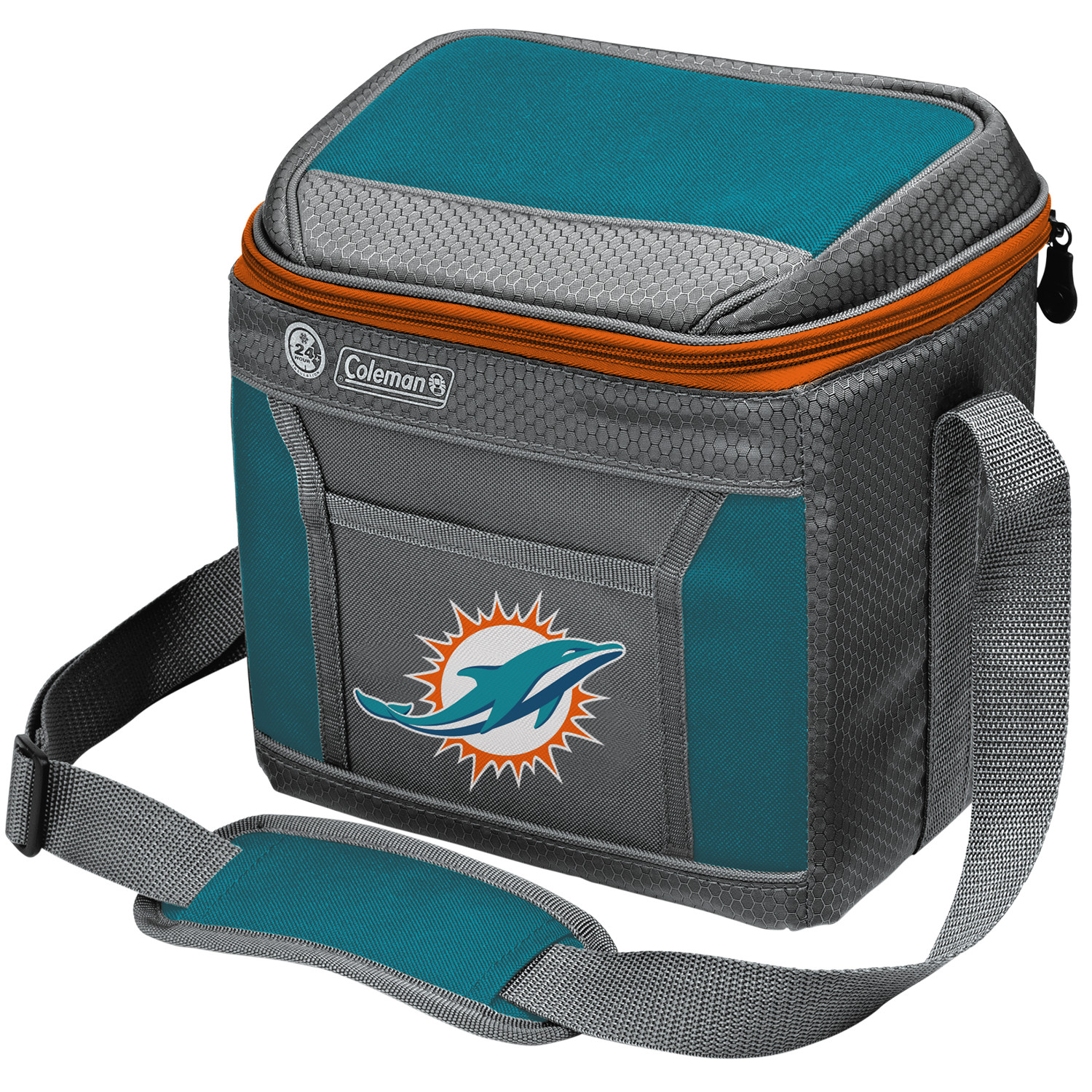 Miami Dolphins Coleman 9-Can 24-Hour Soft-Sided Cooler - No Size