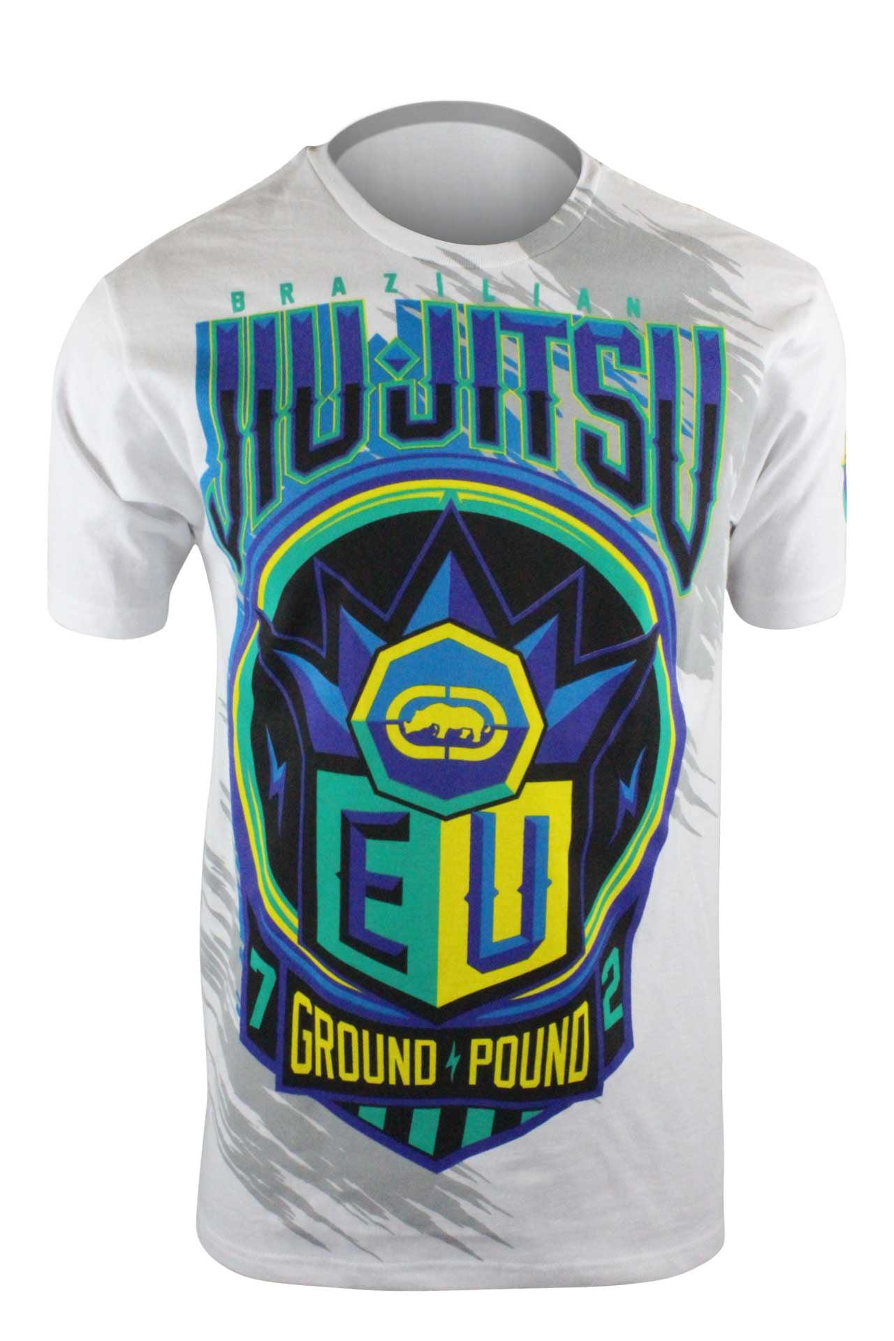 White Ecko MMA Mens This Is Brazil T-Shirt bjj ufc MMA Mens