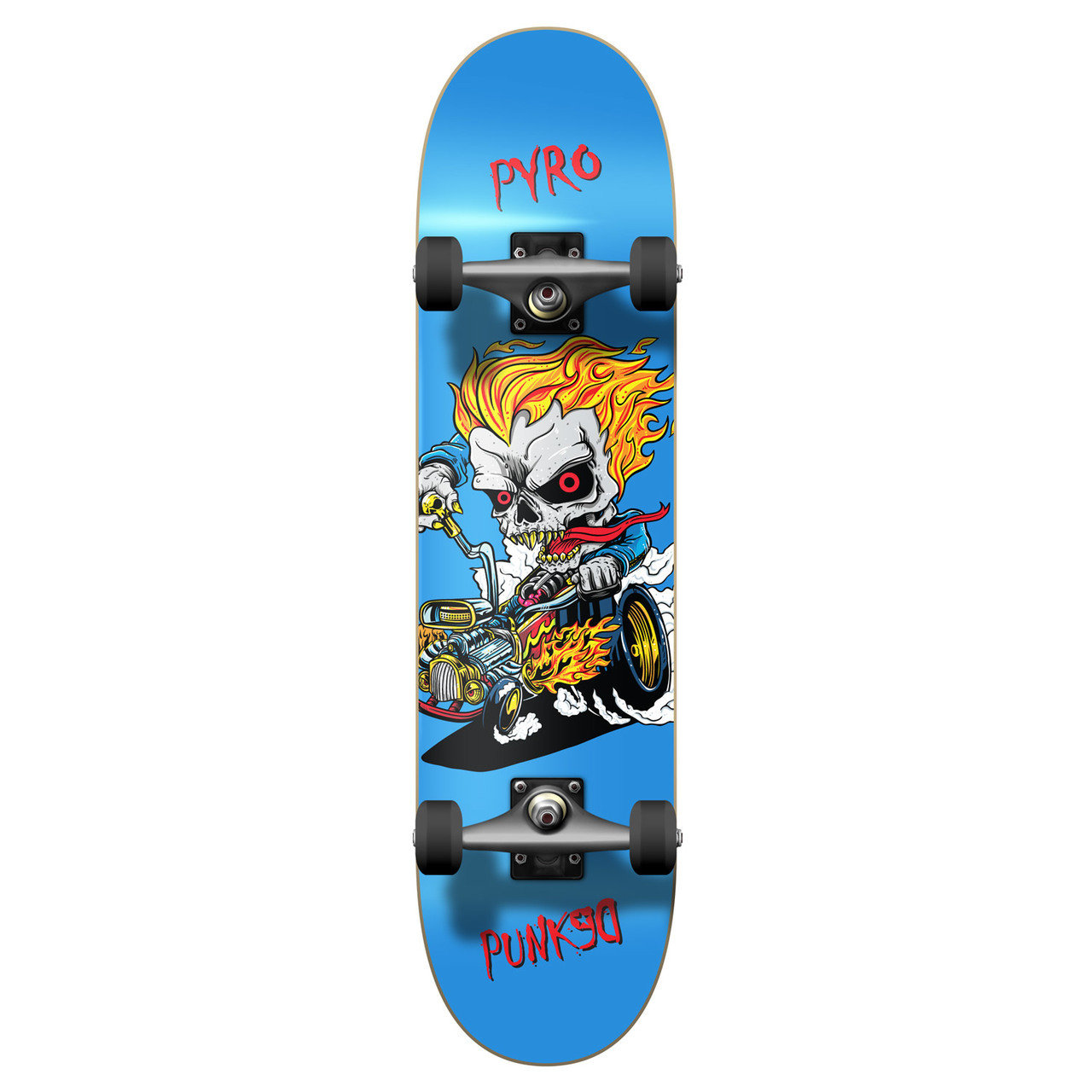 Yocaher Graphic Hot Rod Pyro Complete Skateboard
