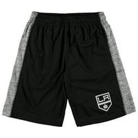 Los Angeles Kings Fanatics Branded Youth Rival Shorts - Black/Heathered Gray