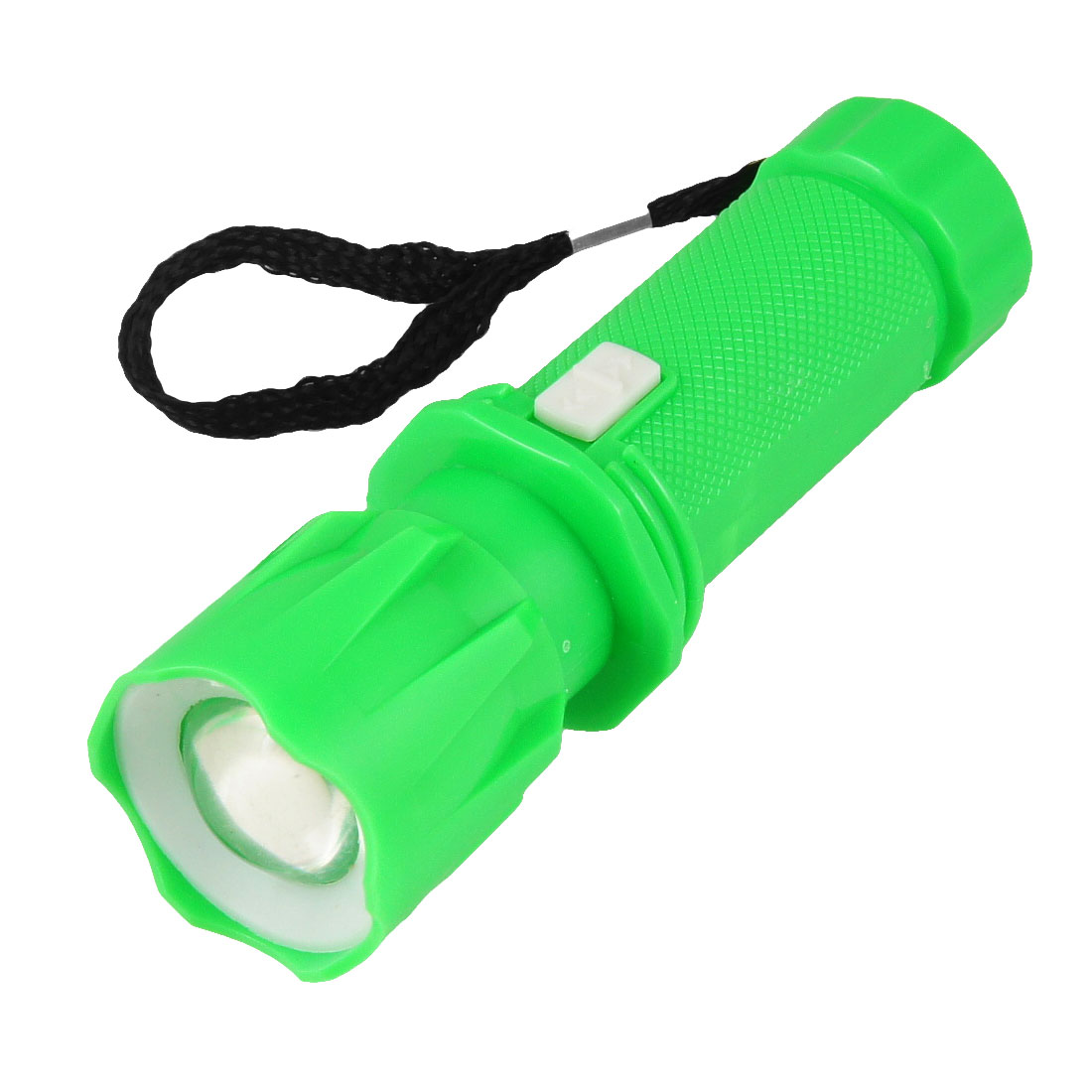 Unique Bargains Portable String Flashlight Battery Powered Adjustable Focus Torch Green