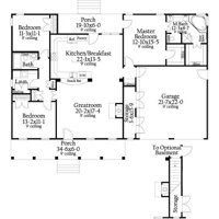 TheHouseDesigners-8787 Construction-Ready Southern Cottage House Plan with Crawl Space Foundation (5 Printed Sets)