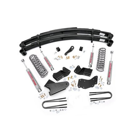 Bronco 4wd Front Lift - Rough Country - 485.20 - 4-inch Suspension Lift System w/ Premium N2.0 Shocks for Ford: 84-90 Bronco II 4WD