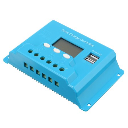 10/20/30A LCD 12V/24V Solar Charge Controller Solar Panel Battery Regulator Safe Protection 2 USB 4-stage PWM - image 4 of 13