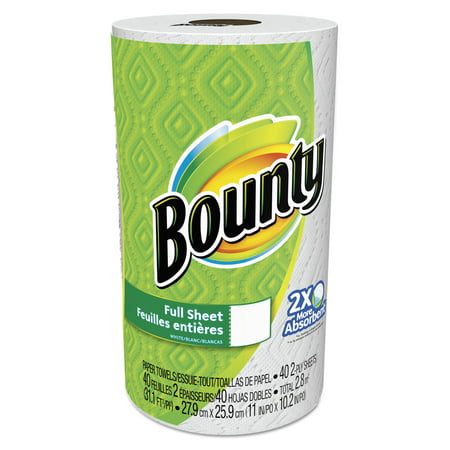 Bounty Paper Towels, Full Sheet, 1 Regular Roll - Walmart.com