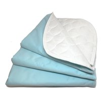"""RMS Reusable & Washable Absorbent Waterproof Bed Pad Incontinence Protection, Blue, 18"""" x 24"""", 3 Pack"""