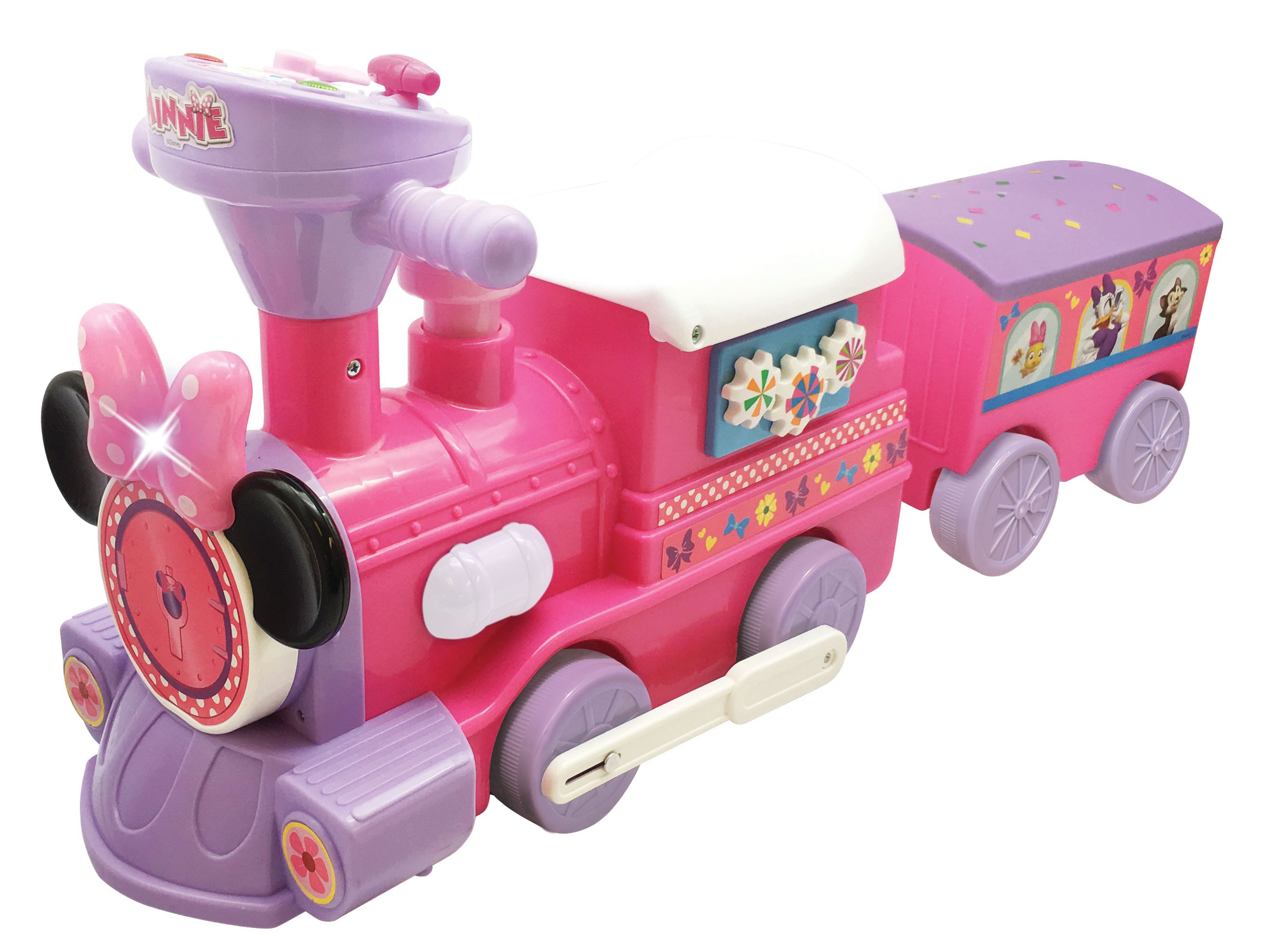 Disney Minnie Mouse 2 In 1 Battery Powered Train With Trailer