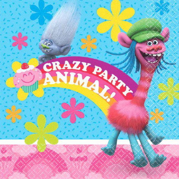 Dreamworks Trolls Poppy Birthday Girls Party Napkins 32 Count NEW Set