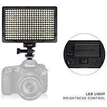Sony FDR-AX33 Camcorder Lighting Vidpro Varicolor 312-Bulb Video and Photo LED Light Kit