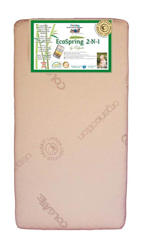 EcoSpring 2-in-1 Dual Firmness Crib Mattress by Colgate Mattress