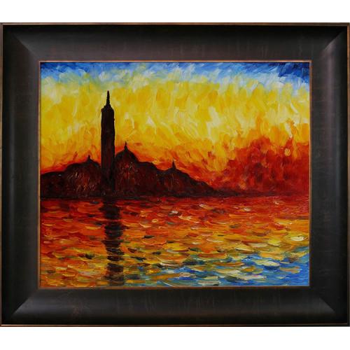 Tori Home San Giorgio Maggiore by Claude Monet Framed Original Painting