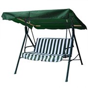"""Durable All Weather 6.25 Foot Heavy Duty Polyester Outdoor Patio Swing Canopy Replacement Top 75""""x52"""" Porch Lawn Furniture Cover - Green, Effective.., By Generic"""