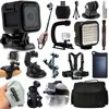 GoPro HERO4 Session HD Action Camera (CHDHS-101) + Everything You Need 18 Piece Accessories Bundle includes Selfie Stick + Opteka X-Grip + Travel Case + Solar Charger + Head/Chest Strap + More!